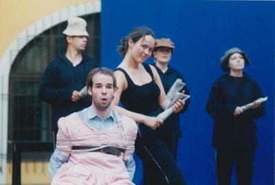 Kovalik Balázs: Tiresias keblei, 2001., A Liszt Ferenc Zeneművészeti Egyetem és a Szentendrei Teátrum koprodukciója, Fotó: [n. n.] (1999). Lelőhely: Szentendrei Teátrum. HUNGART © 2019